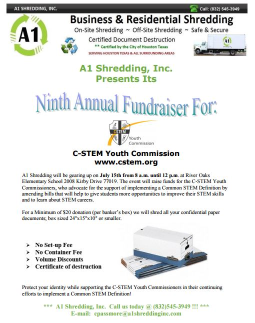 A1 Shredding Fundraiser